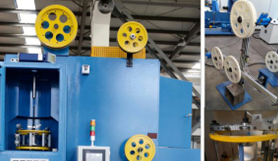 The Inspection of Double Head Vertical Taping Machine